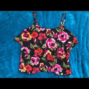 Roses string crop top